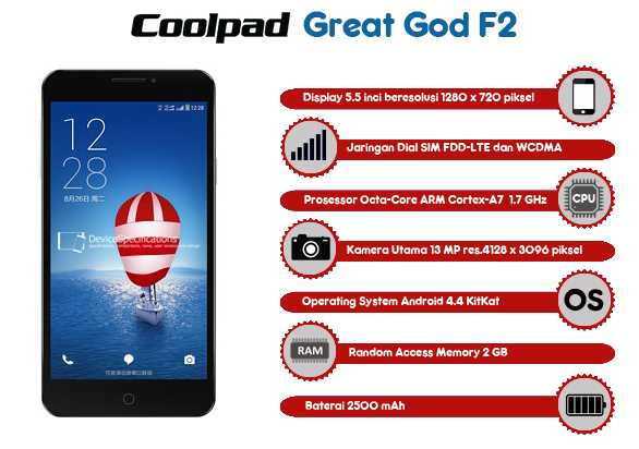 Coolpad Great God F2