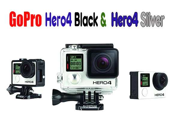 GoPro Hero4 Black dan Hero4 Silver